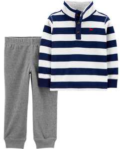 Baby Boy 2-Piece Fleece Pullover & Jogger Set