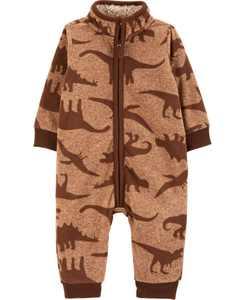 Baby Boy Dinosaur Fleece Jumpsuit