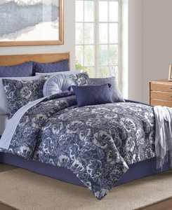 CLOSEOUT! Hendel Indigo King Comforter Set
