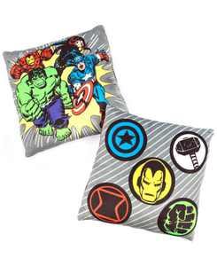 "CLOSEOUT! Avengers 12""x12"" 2-Pk Squishy Dec Pillows"