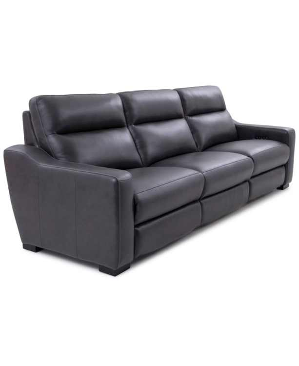 Gabrine 3-Pc. Leather Sofa with 2 Power Recliners, Created for Macy's