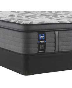 """Premium Posturepedic Satisfied II 14"""" Plush Pillow Top Mattress Set- King"""