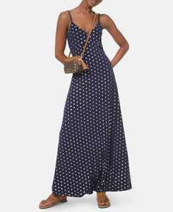Mini-Medal-Print Maxi Dress