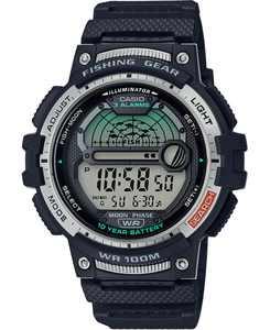 Men's Digital Fishing Gear Black Resin Strap Watch 47mm