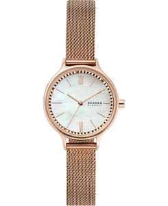 Women's Anita Rose Gold-Tone Stainless Steel Mesh Bracelet Watch 30mm