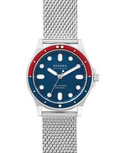 Men's Fisk Stainless Steel Mesh Bracelet Watch 42mm