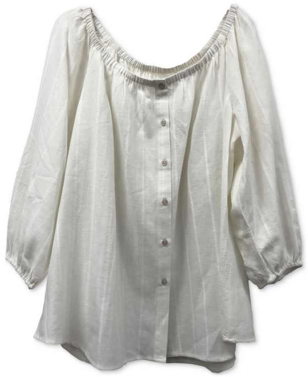 Striped Off-The-Shoulder Top, Created for Macy's
