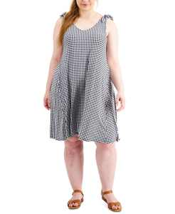 Gingham Sleeveless Dress, Created for Macy's