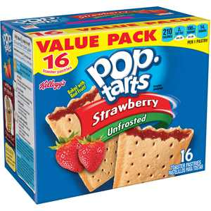 Pop-Tarts, Breakfast Toaster Pastries, Unfrosted Strawberry, 29.3 Oz, 16 Ct