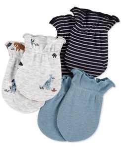 Baby Boys 3-Pk. Cotton Mittens