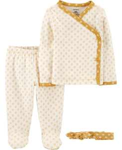 Baby Girl 3-Piece Take-Me-Home Set