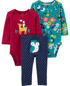 Carters Baby Girl 3-Piece Owl Little Character Set