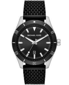 Layton Three - Hand Black Silicone Mesh Watch
