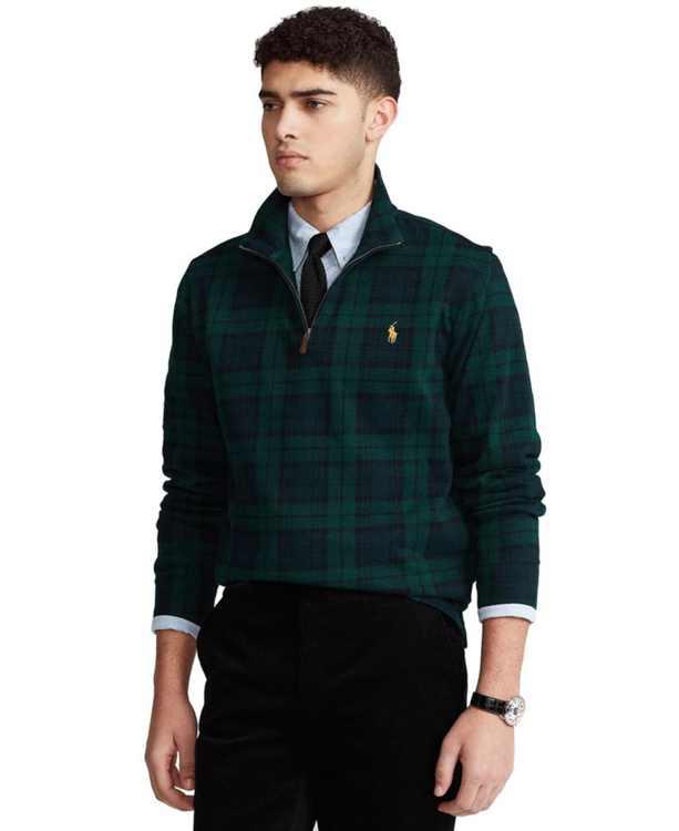 Men's Print Estate-Rib Cotton Pullover