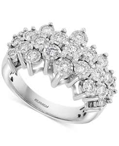 EFFY Diamond Cluster Ring (1 ct. t.w.) in 14k White Gold or 14k Yellow & White Gold