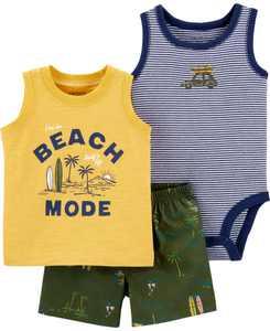 Baby Boys Beach Mode Little Short, 3 Piece Set