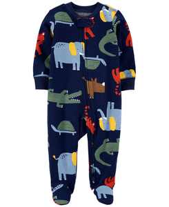 Baby Boys 1-Pc. Jungle Animals Cotton Coverall
