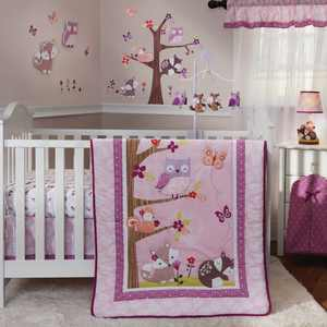 Lambs & Ivy Bedtime Originals Lavender Woods 3 Piece Crib Bedding Set