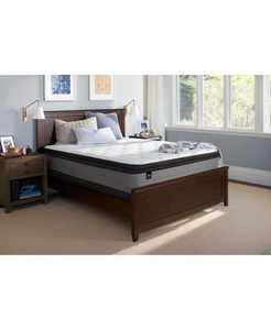 """Essentials Coral 13"""" Plush Euro Pillow Top Mattress - California King"""