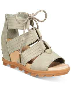Joanie II Lace-Up Wedge Sandals