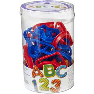 Wilton Cookie Cutter Set, ABC & 123, 50 pc.