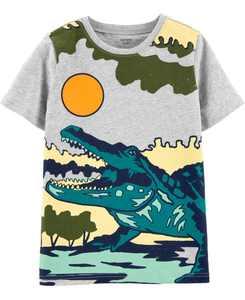 Little Boys Alligator Slub Jersey Tee
