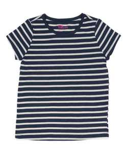 Little Girls Short Sleeve Striped Basic Tee, Created for Macy's