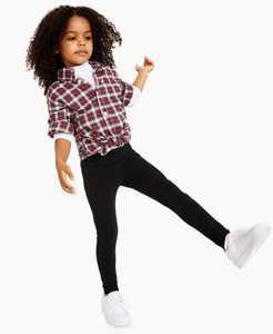 Little Girls Solid Basic Knit Legging, Created for Macy's