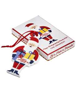 """Thanksgiving Collectible 2020 Santa Ornament 4.25"""", in a Gift Box"""