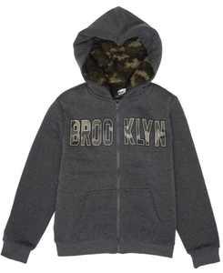 Big Boys Brooklyn Full Zip Hooded Fleece Jacket