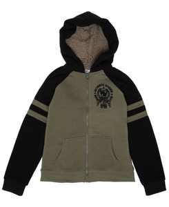 Big Boys Full Zip Hooded Fleece Jacket