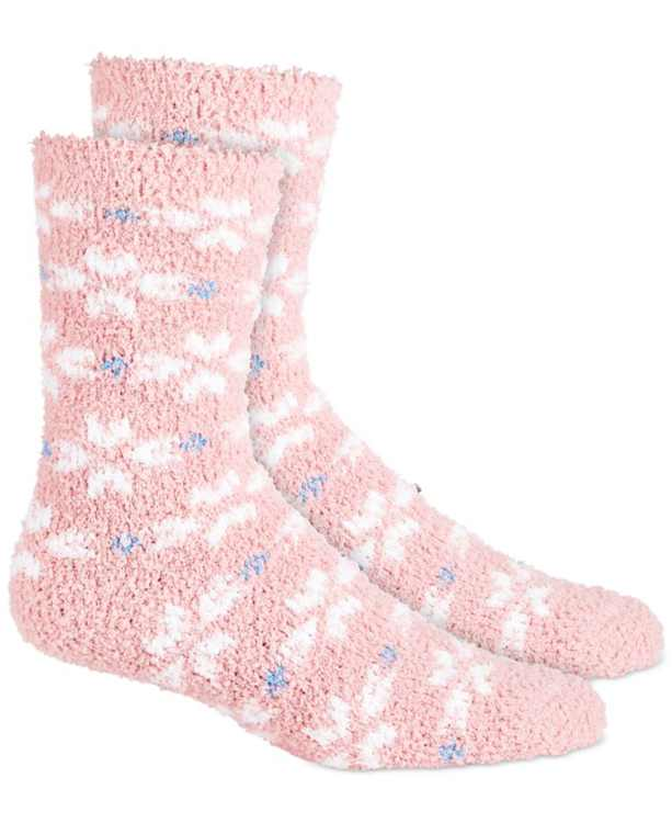 Printed Super-Soft Cozy Socks, Created for Macy's