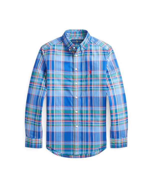 Big Boys Plaid Poplin Shirt