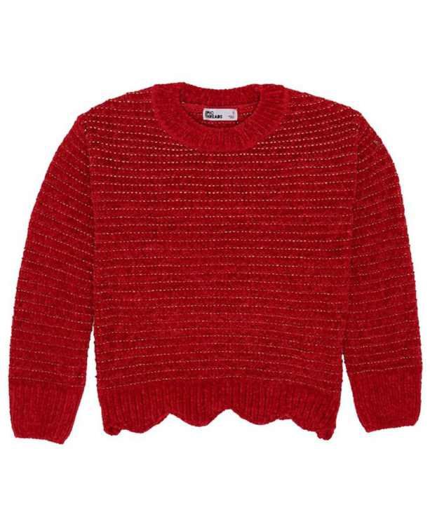 Little Girls All Over Sparkle Knit Sweater