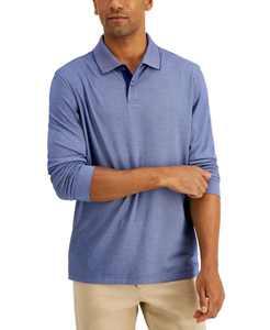 Men's Long Sleeve Polo, Created for Macy's
