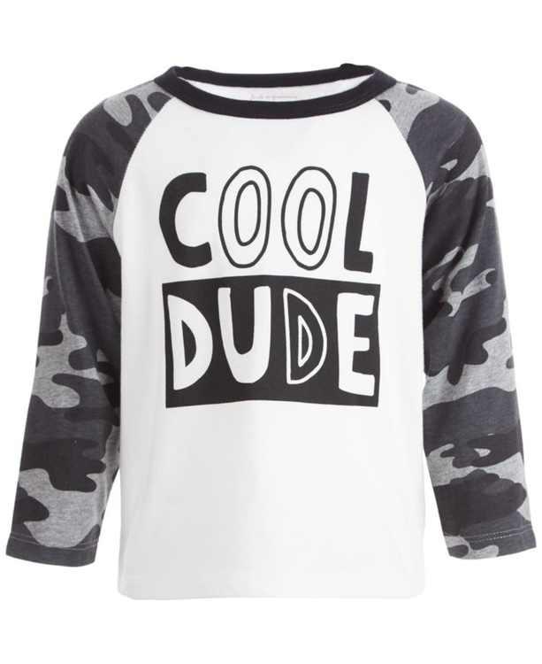 Baby Boys Cool Dude Raglan, Created for Macy's