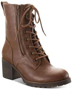 Sloanie Lace-Up Lug Sole Hiker Booties, Created for Macy's