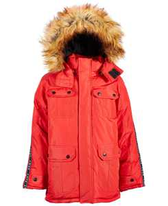 Big Boys Faux-Fur-Trim Parka