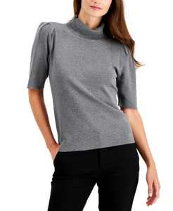 Turtleneck Elbow-Sleeve Sweater, Created for Macy's