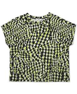 Houndstooth Printed Cropped T-Shirt, Created for Macy's