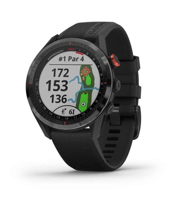 Unisex Approach S62 Black Silicone Strap Touchscreen Smart Watch 47mm