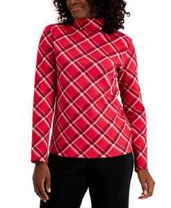 Plaid Long-Sleeve Turtleneck, Created For Macy's