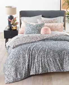 Reversible 3-Pc. Cheetah-Print Full/Queen Comforter Set, Created for Macy's