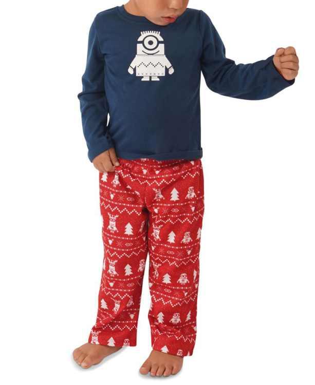 Matching Toddler Holiday Minions Family Pajama Set