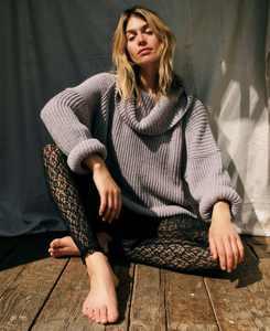 Leo Cowl-Neck Tunic Sweater