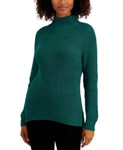 Petite Cotton Funnel-Neck Sweater, Created for Macy's