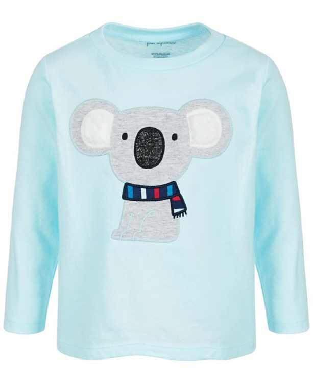Baby Boys Long-Sleeve Koala Cotton T-Shirt, Created for Macy's
