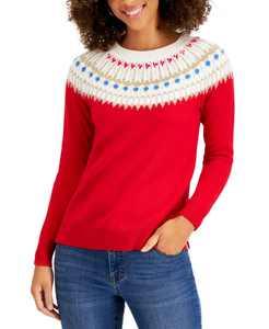 Beaded Fair Isle Sweater, Created for Macy's