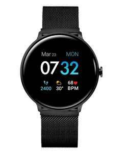 Sport 3 Unisex Touchscreen Smartwatch: Black Case with Black Mesh Strap 45mm