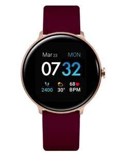 Sport 3 Women's Touchscreen Smartwatch: Rose Gold Case with Merlot Strap 45mm
